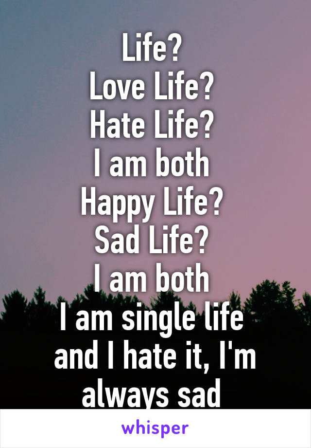 Single love life