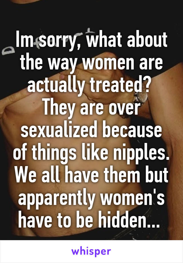 Why Are Womens Nipples Sexualized
