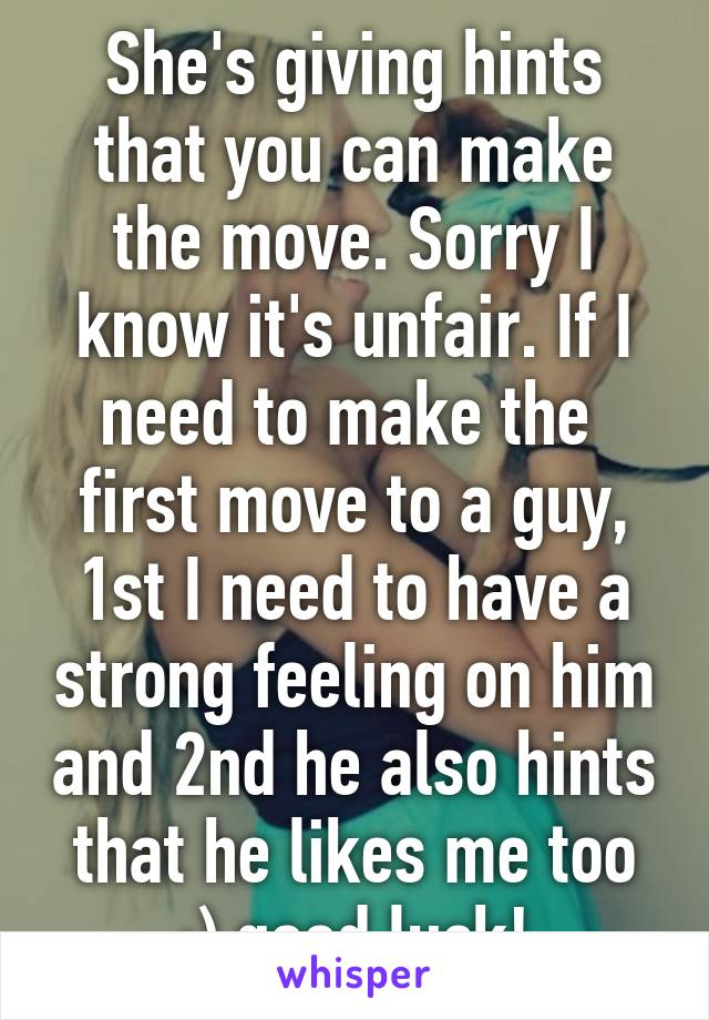 Make A Move On A Guy