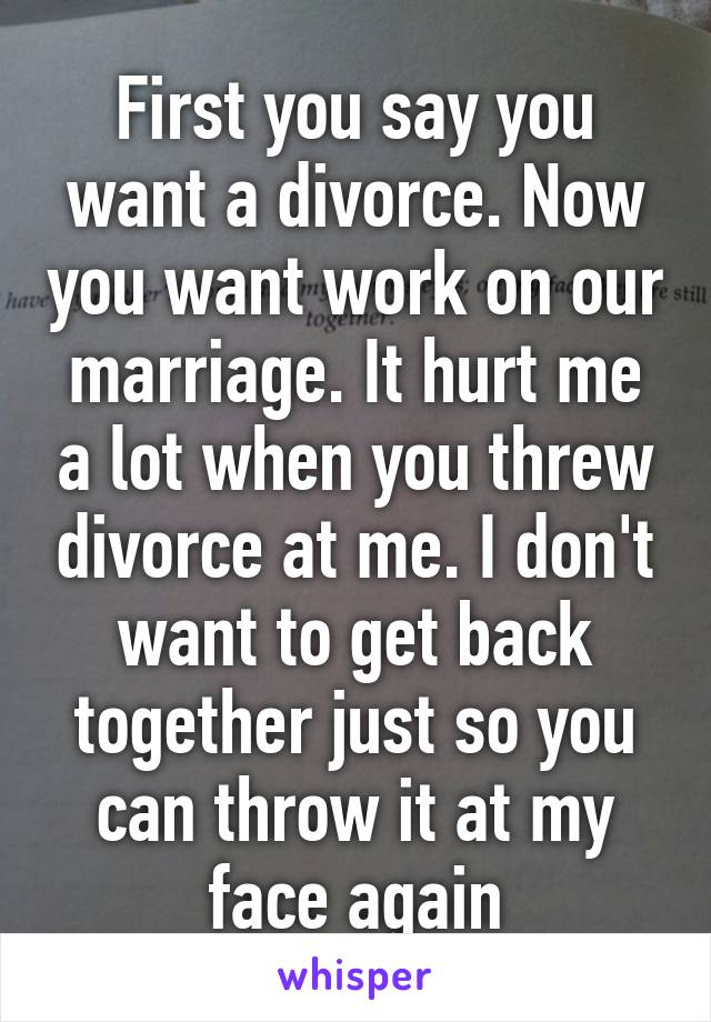 What to say when you want a divorce