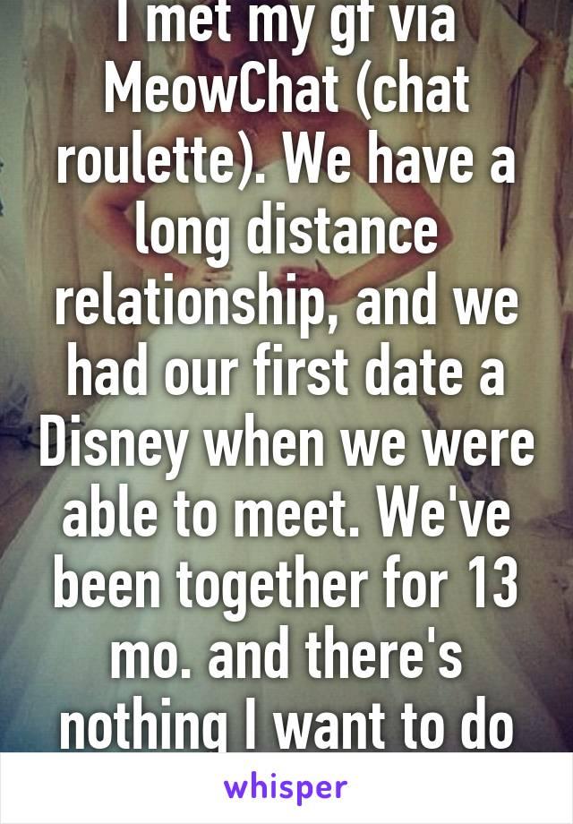 Meeting someone you met online long distance