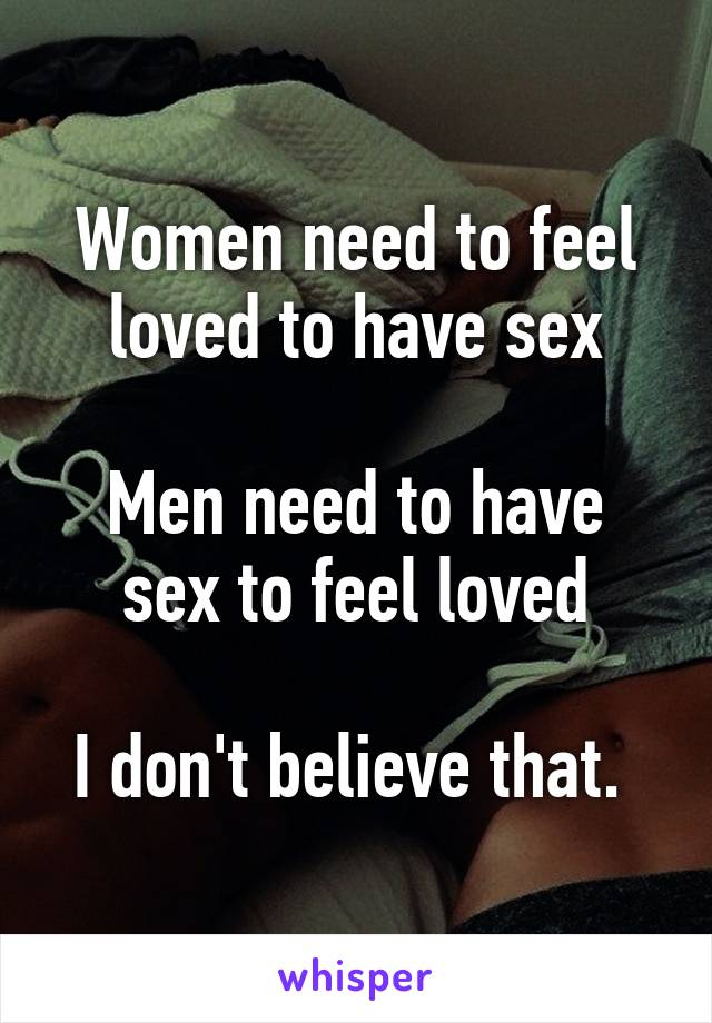 Do women need to have sex