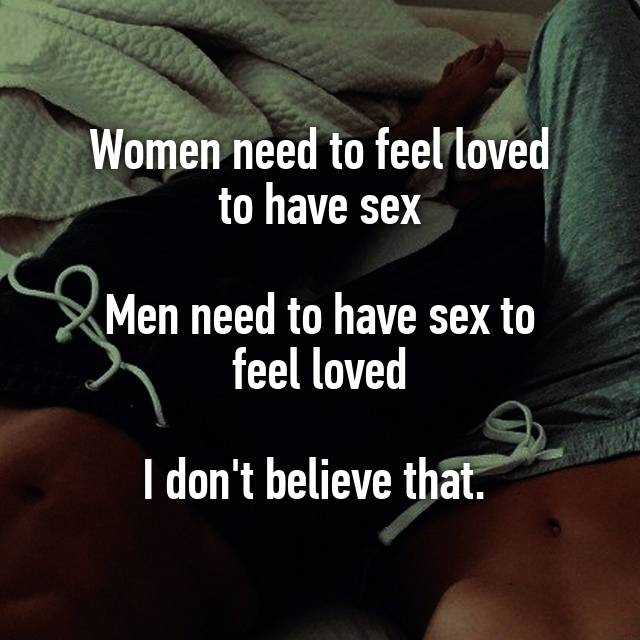 men need sex to feel loved