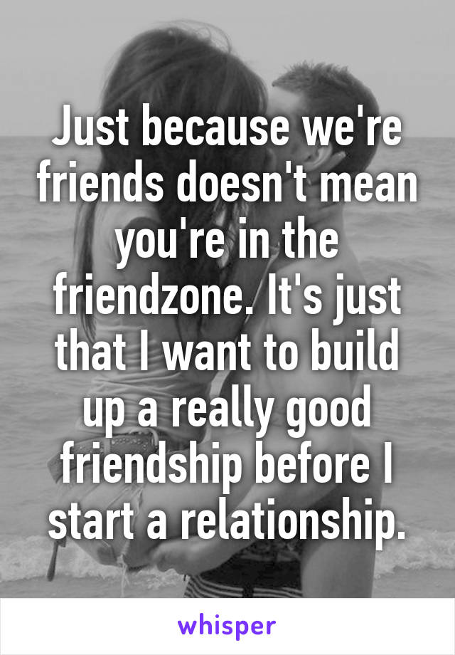 friends before a relationship