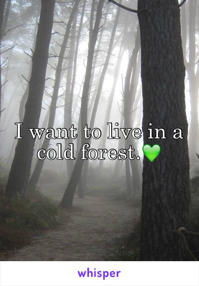 I want to live in a cold forest.💚