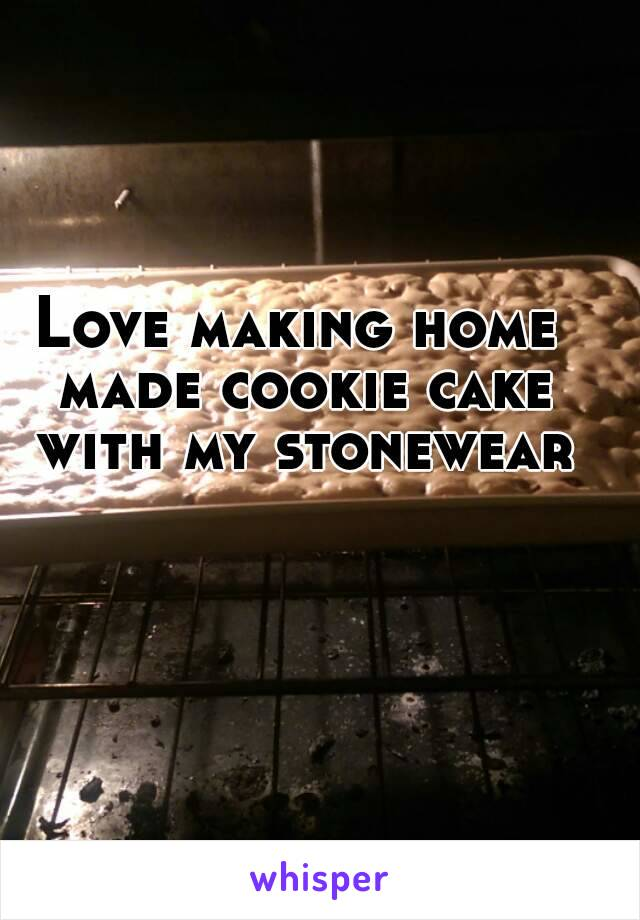 Love making home made cookie cake with my stonewear