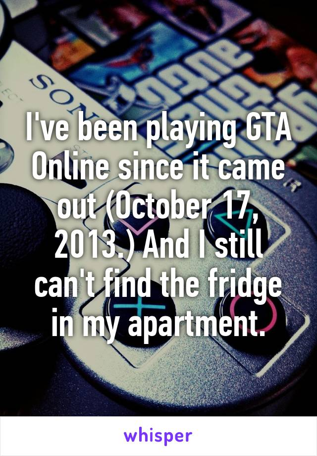 I've been playing GTA Online since it came out (October 17, 2013.) And I still can't find the fridge in my apartment.