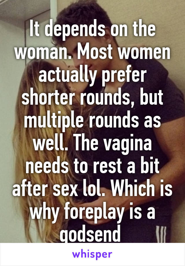 Sex multiple rounds