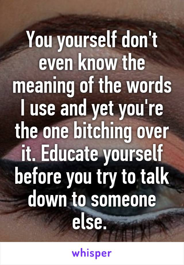 Bitching meaning