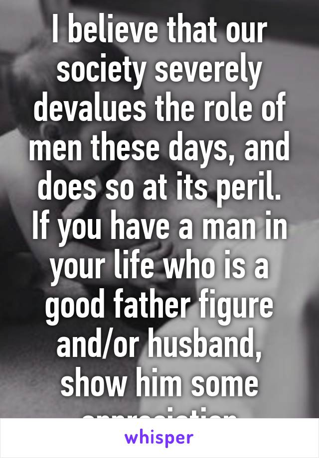 role of father in your life