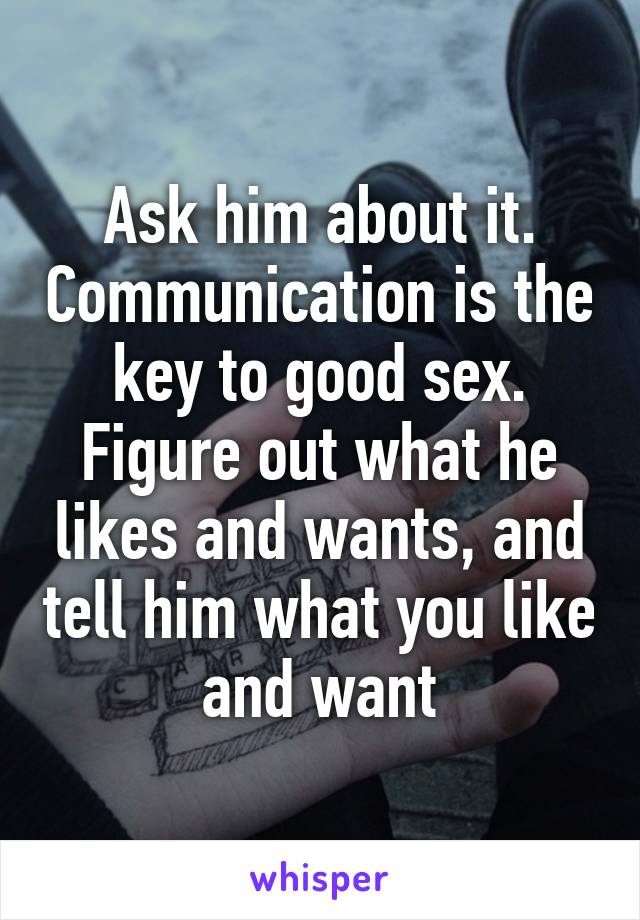 The key to good sex