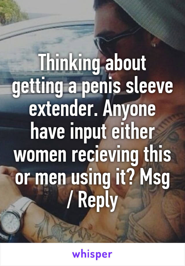 Getting a penis
