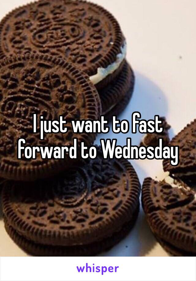 I just want to fast forward to Wednesday