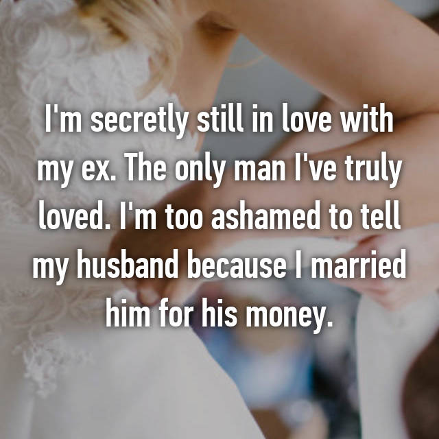 people who married for money
