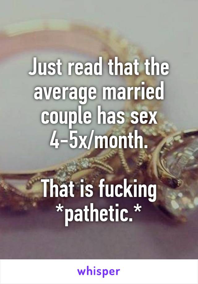 average married couple sex