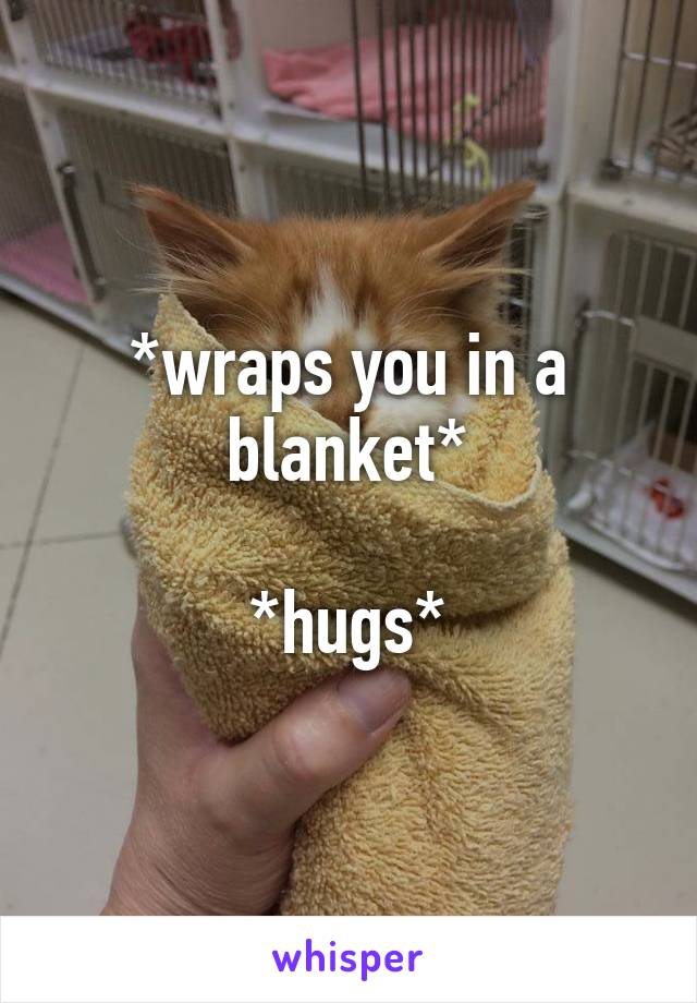 *wraps you in a blanket*  *hugs*