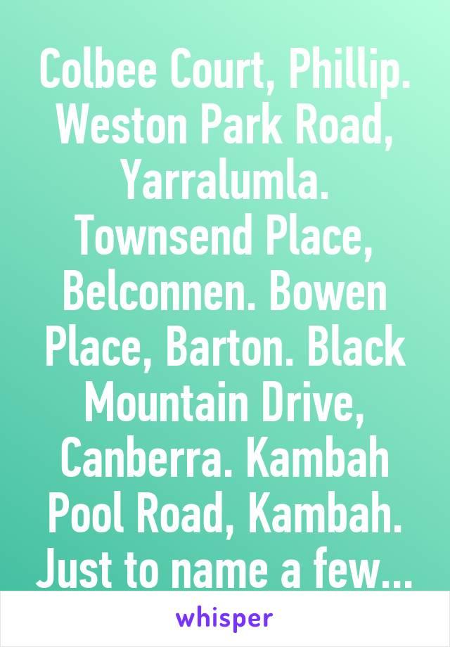 Canberra glory holes