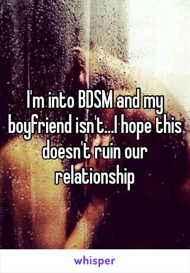 my boyfriend is into bdsm