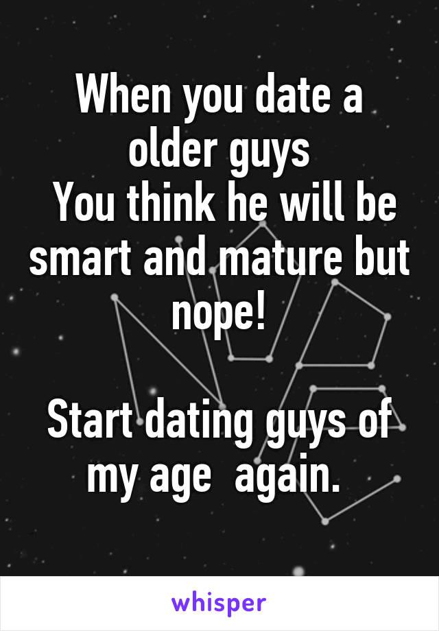 When do guys mature