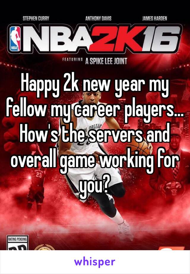 happy 2k new year my fellow my career players hows the servers and overall game working