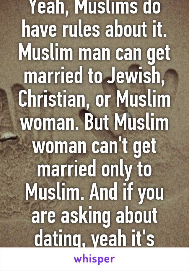 Rules of dating a muslim man