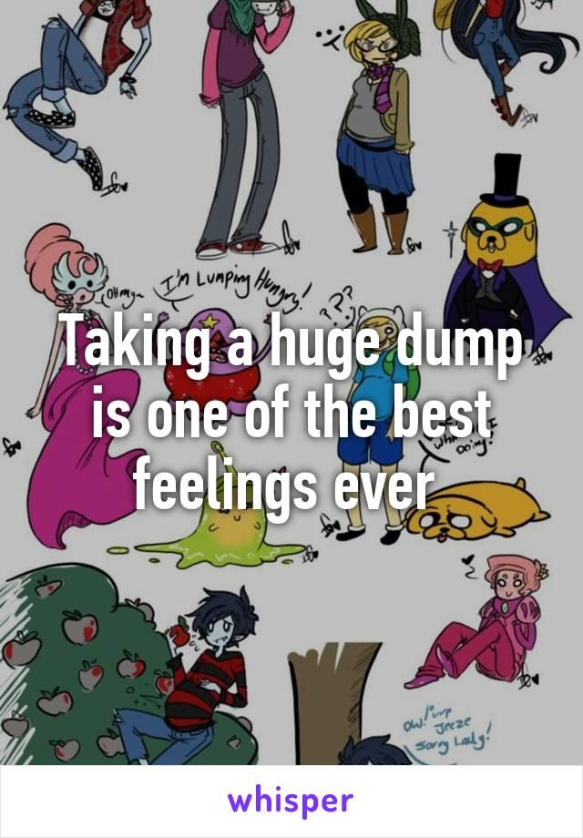 Taking a huge dump is one of the best feelings ever