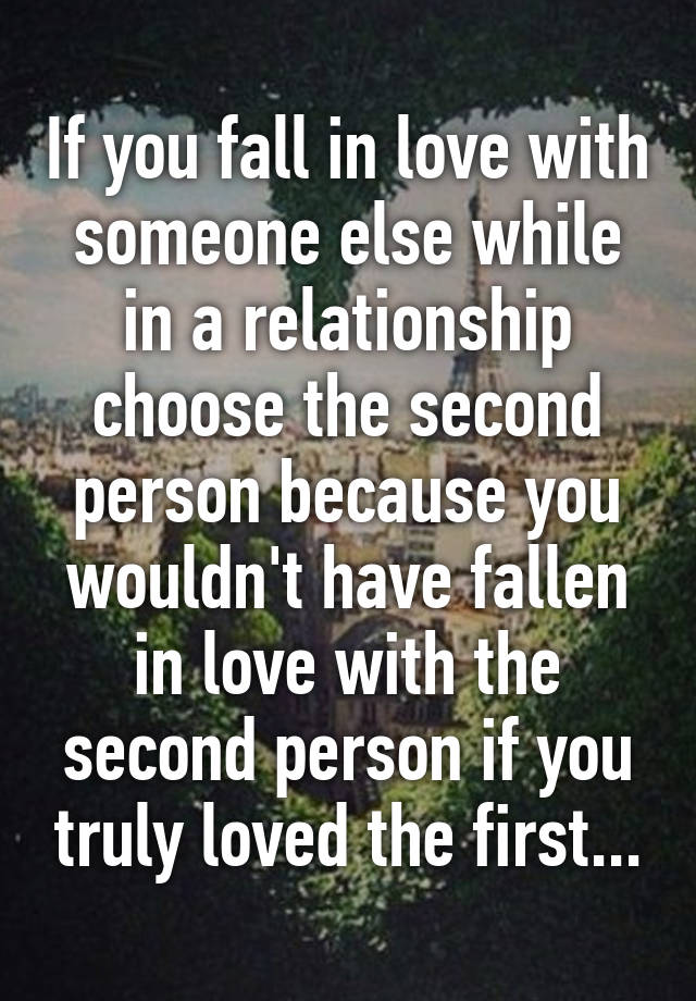 In Love With Someone Who Is In A Relationship