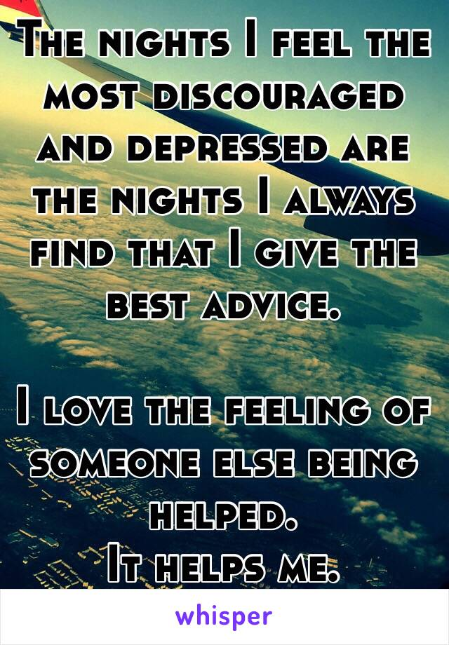 best advice to give someone who is depressed