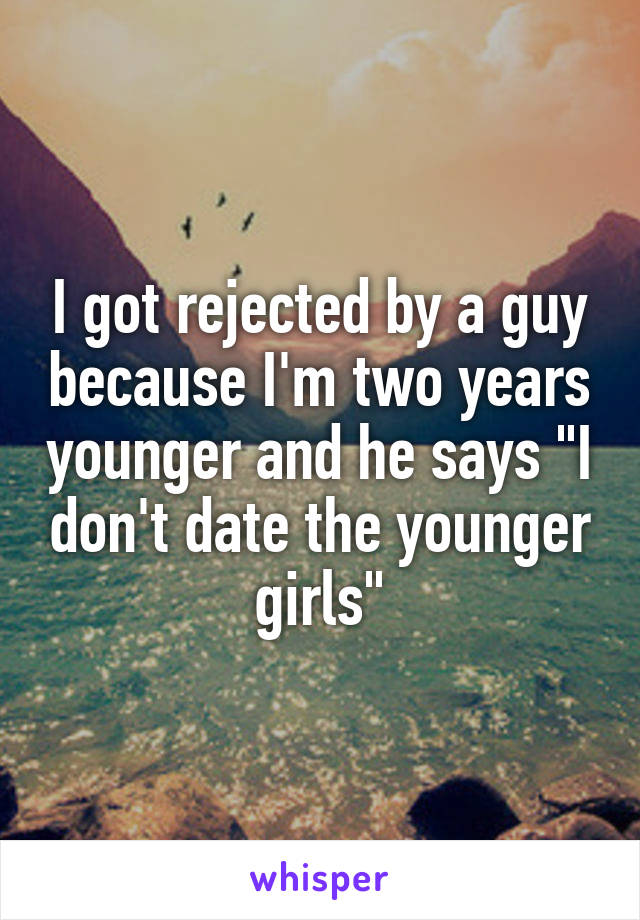 dating two years younger guy
