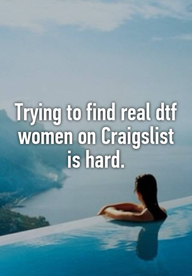 Real women on craigslist