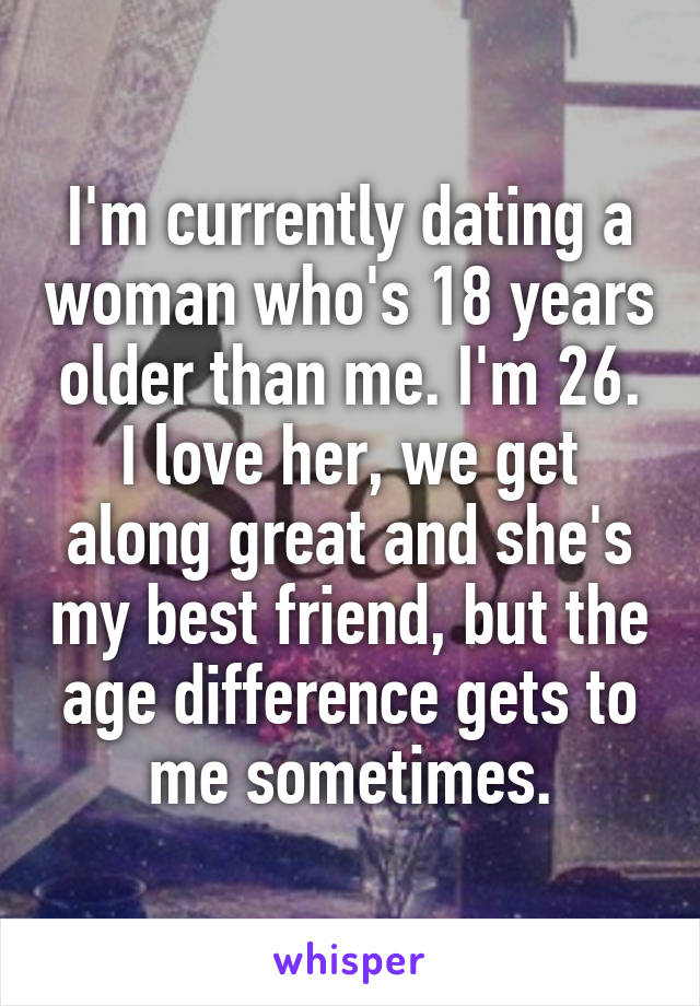 dating someone 26 years older