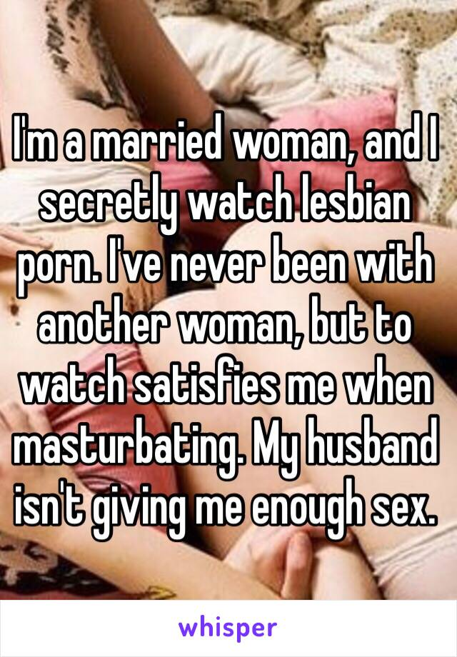 Husband watching lesbian wife