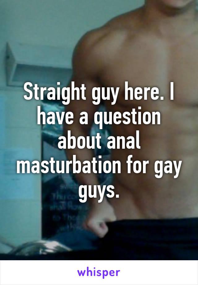 Male anal mastrubation