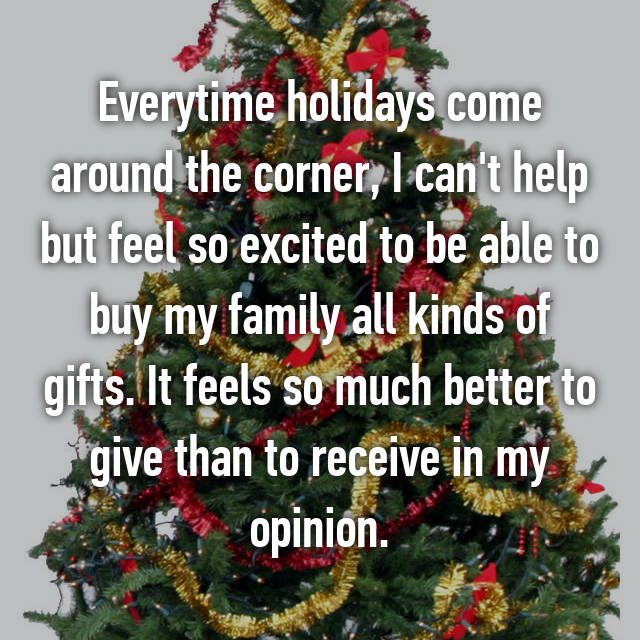 Everytime holidays come around the corner, I can't help but feel so excited to be able to buy my family all kinds of gifts. It feels so much better to give than to receive in my opinion.