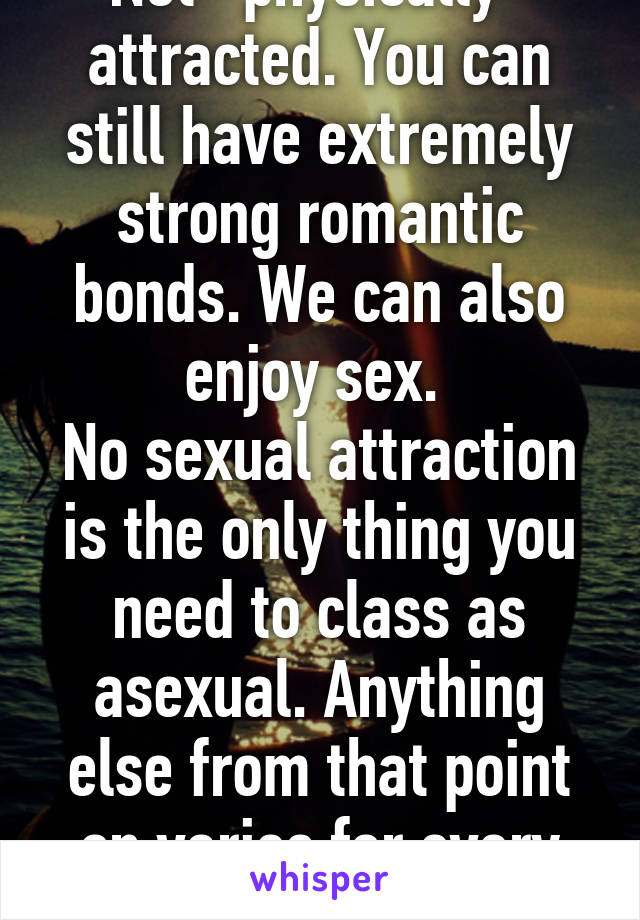 Physical attraction vs. sexual attraction