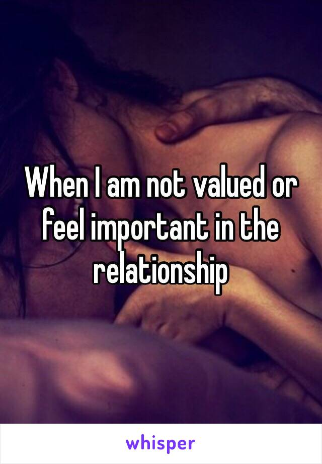 What is important in a relationship