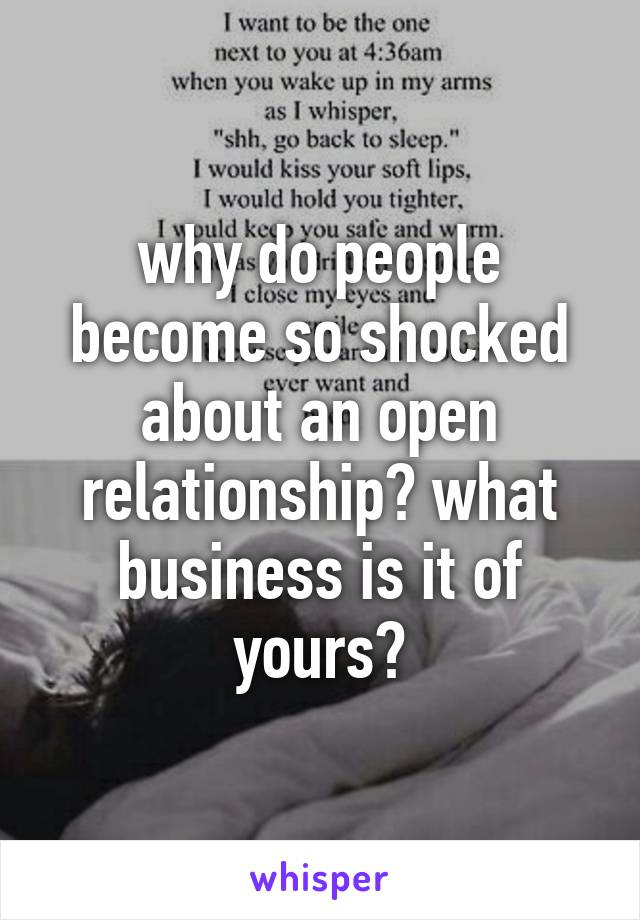 why do people want open relationships