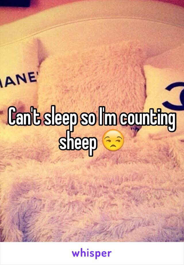Can't sleep so I'm counting sheep 😒