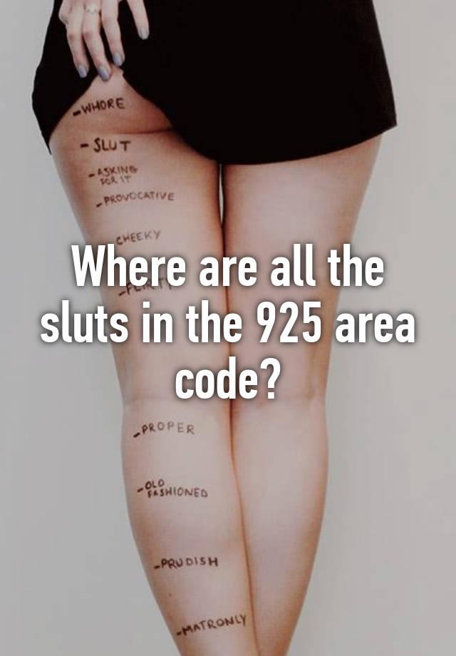 Sluts by area code