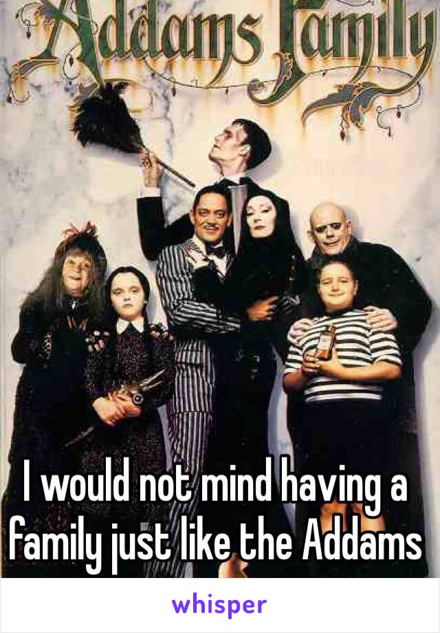 I would not mind having a family just like the Addams