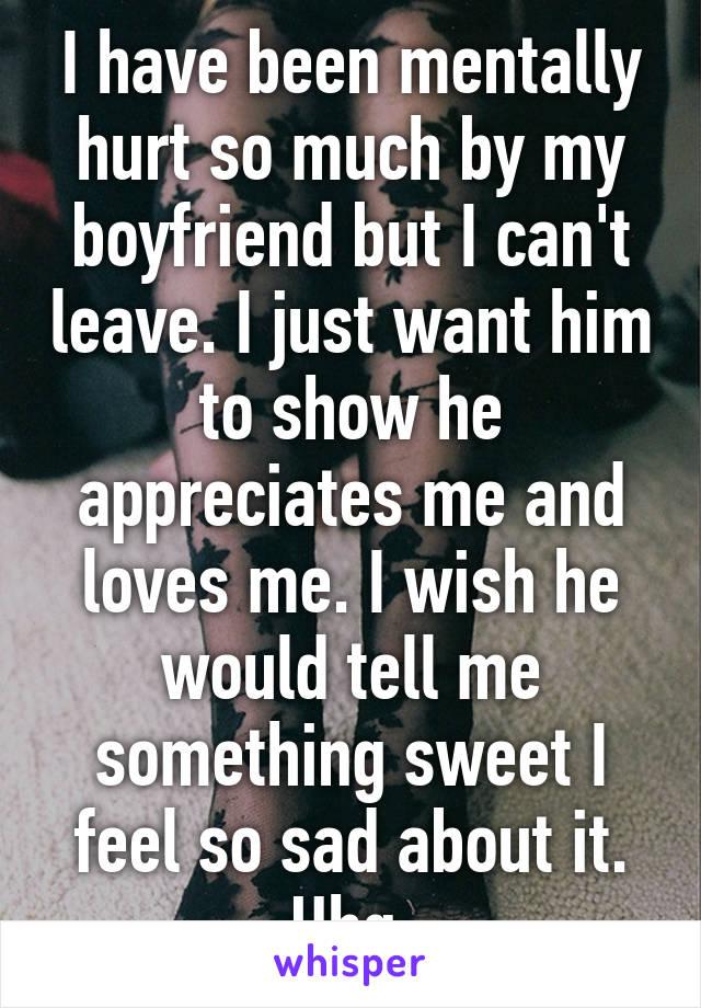 something sweet to tell my boyfriend
