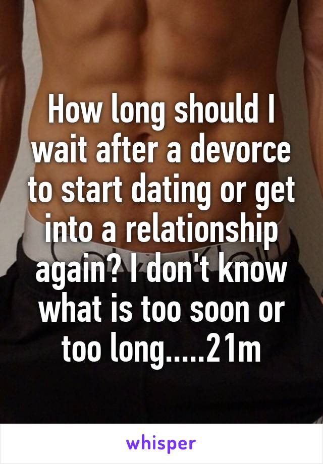 how soon after breakup to start dating