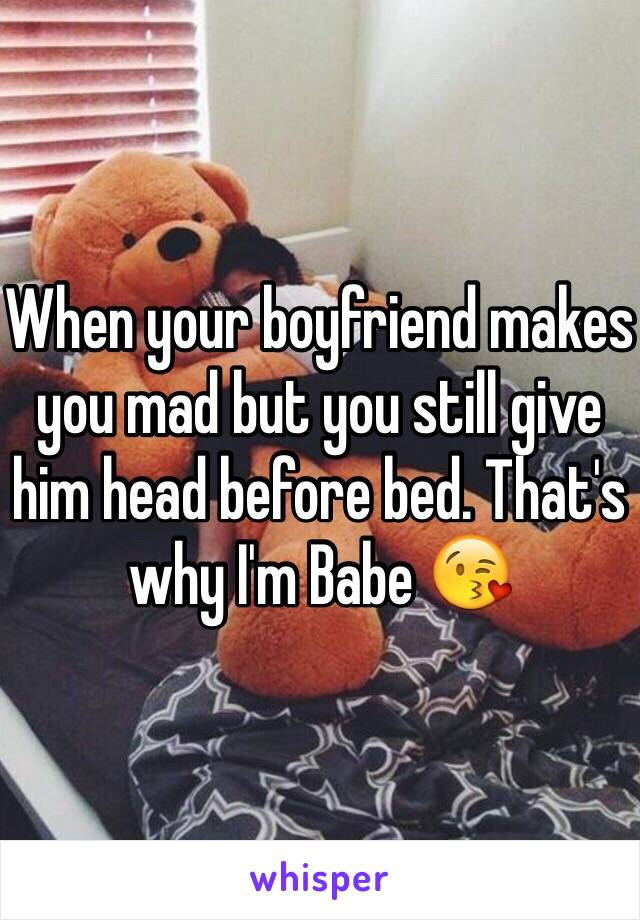 giving your boyfriend head