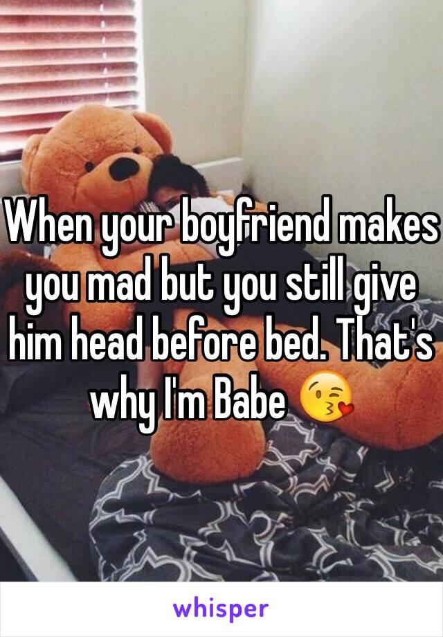 giving your boyfriend head