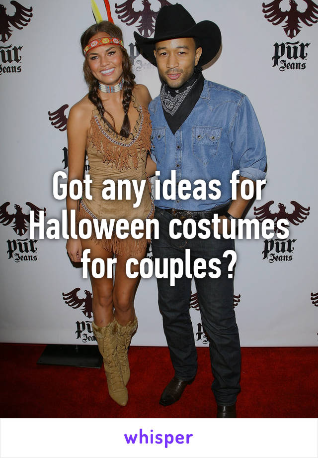Got any ideas for Halloween costumes for couples?