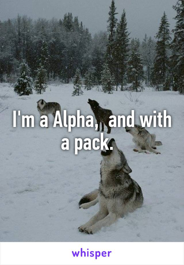 I'm a Alpha,  and with a pack.
