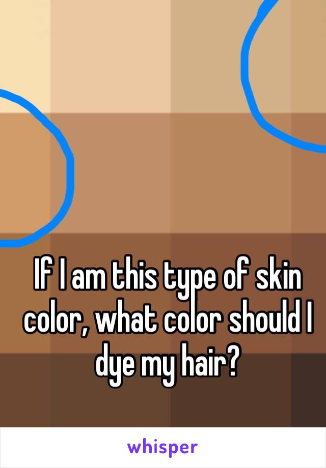 If I am this type of skin color, what color should I dye my hair?