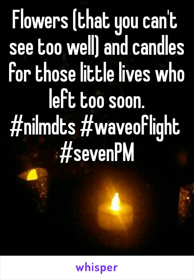 Flowers (that you can't see too well) and candles for those little lives who left too soon. #nilmdts #waveoflight #sevenPM