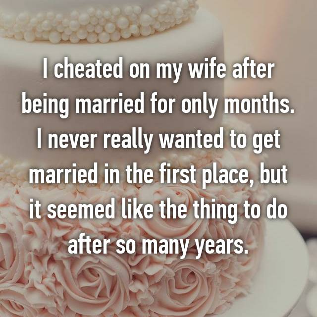cheating spouse confessions