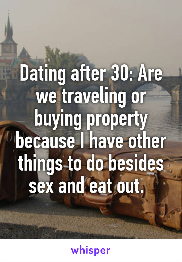 Other things to do besides sex